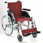 Deluxe Aluminum Wheelchair (Red checker pattern )