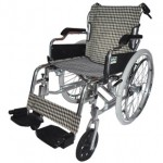Deluxe Aluminum Wheelchair (Checker pattern)