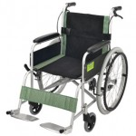 Attendant Propelled Transport Wheelchair (Green)