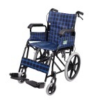 Foldable Attendant Propelled Transport Wheelchair (Blue)
