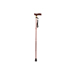 Extendable Plastic Handled Walking Stick with Engraved Pattern (Colour Brown)
