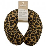 Memory Foam Neck Cushion (Design Tan Leopard)