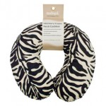 Memory Foam Neck Cushion (Design Black/White Zebra)