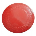 Tenura Silicone Rubber Anti Slip Circular Mat/Coaster 19 cm (Colour Red)