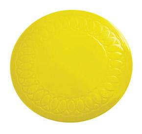 Tenura Silicone Rubber Anti Slip Circular Mat/Coaster 19 cm (Colour Yellow)