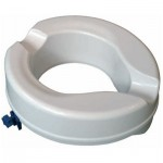 Senator ergonomically designed ABS plastic 4 raised toilet seat