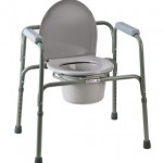 Steel 3 in 1 commode chair