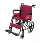 Foldable Attendant Propelled Transport Wheelchair (Red)