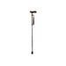 Extendable Plastic Handled Walking Stick with Engraved Pattern (Colour Black)