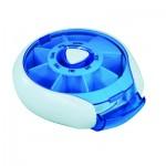 Compact Weekday Pill Dispenser (Blue)