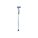 Extendable Plastic Handled Walking Stick with Engraved Pattern (Colour Blue)